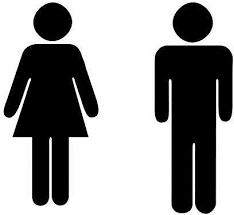 sticker autocollant homme femme toilettes