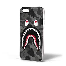 Amazon Bape Shark Black Army Pattern for Iphone Case iPhone