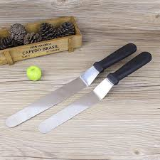 spatule cuisine plastique 1 pc poignée en plastique en acier inoxydable couteau gâteau