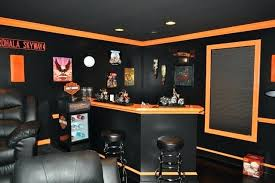 Lovely Harley Davidson Home Decor Themed Theater Contemporary Family Room Mirrors