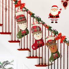Aiduy 3 Pack Christmas Stockings Set Xmas Fireplace Hanging