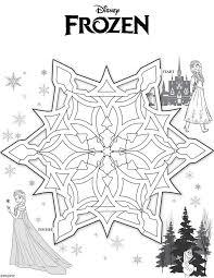 Frozen Maze Free Printables