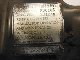 Kohler 18HP PowerKing 2418 K361 K361QS Oil fill filler tube GOOD