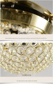 Retractable Blade Ceiling Fan With Light by Ceiling Fan Hidden Blades Transparent Crystal 5 Blades Golden