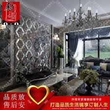 Art Glass Mirror Fight Diamond Gray Backdrop Tv Marble Wall Shipping