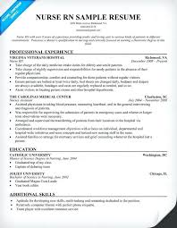 Sample Resume Registered Nurse Red Cross