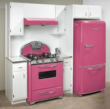 Pink 50s Style Kitchen Appliances