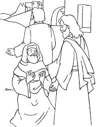 Jesus Heals A Little Boy Coloring Page
