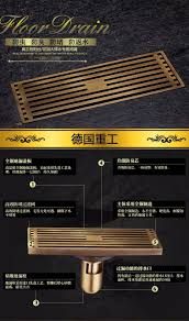 Bathtub Drain Strainer Cover by Style Antique Brass Bathroom Linear Shower Drain Floor Drain Wire