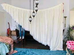 2 vintage gardinen vorhänge beige spitzen