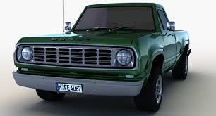 100 1975 Dodge Truck Dodge W200 3d Model
