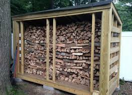 22 Firewood Rack With Roof Back Behind Studio akmooseisinn