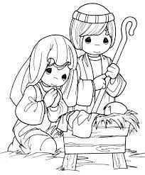 Free Bible Coloring Pages Mary And Martha Page Jesus Baby Clip Art Precious Moments Of In