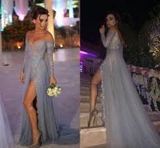 paolo sebastian evening prom dresses 2015 off shoulder long