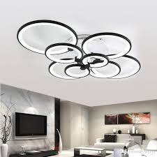 großhandel moderne deckenleuchten wohnzimmer leuchten acryl ringe schlafzimmer plafon hause beleuchtung laras de techo dimmen fernbedienung ems