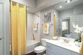 Gray Chevron Bathroom Set by Gray Yellow Chevron Bathroom Or Substitute Color Grey White Decor