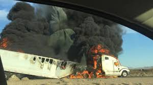 Big Rig Fire Blocks Southbound Lanes Of 15 Freeway In Baker   Abc7.com Big Rig Modern Semi Truck Flat Bed Trailer With Cargo On Parking Semi Truck Show 2017 Pictures Of Nice Trucks And Trailers Medium Duty And Service In Rapids Quality Car Pin By Tim Winemiller On Lost Trucking Companies Pinterest Driver Jobs Mntdl Artisan Vehicle Systems Diesel Hybrid Photo Image Gallery Purple Gold Stock Illustration 766137712 Sleeper 2019 Kenworth T680 Cummins Wayne Truck Trucks Tesla Just Received Its Largest Preorder Of Yet The Verge 10 Quick Facts About Png Logistics