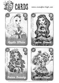 Ever After High Cards Coloring Page
