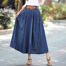 online buy wholesale maxi jean skirt from china maxi jean skirt