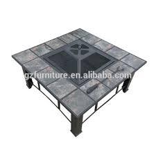 outdoor rectangular ceramic tile top pit brownish bronze