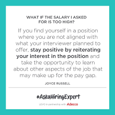 Ask a Hiring Expert What If the Salary I Asked For Is Too High
