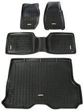 Floor Liner Floor Liners Kit Black 84 01 Jeep Cherokee XJ fits 84