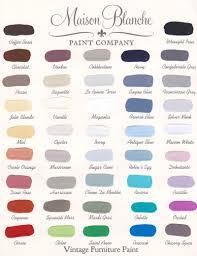 Maison Blanche Vintage Outdoor Furniture Paint Color Chart