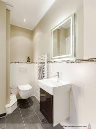 klare linien im gäste bad mit dusche wc und