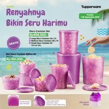 deco canister set adalah produk dari tupperware bikin mejamu penuh warna