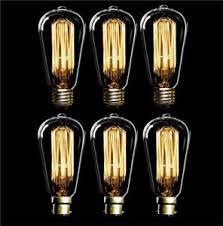 6 x 60w antique filament light bulb ls vintage pear squirrel