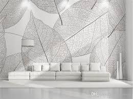 großhandel benutzerdefinierte 3d fototapete murals moderne minimalistische blätter natur wandmalereien wandbild für wohnzimmer schlafzimmer restaurant