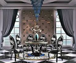 klassische designer möbel esszimmer garnitur rund tisch 6