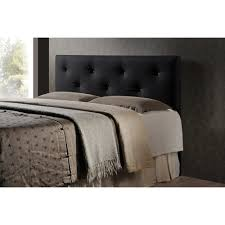 Black Leather Headboard With Diamonds by Baxton Studio Dalini Modern And Contemporary King Black Faux