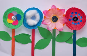 Row Of Flowers Craft For Kids