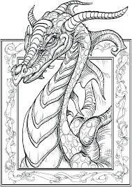 Dragon Coloring Pages Realistic Unicorn Hard As Well