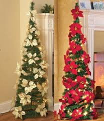 Lighted Poinsettia Red Or White Pull Up Christmas Tree Collapses Holiday Sparkle 1 Of 3FREE Shipping