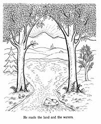 Bible Creation Story Coloring Pages