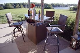 amazon com palmerton landing outdoor 5 piece bar height patio