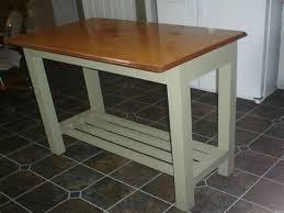 Vintage Kitchen Island Metal Top Table