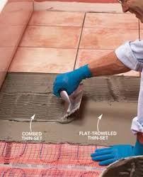 install electric radiant heat mat a tile floor radiant