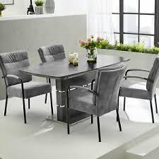 esstisch ausziehbar glas grau marmoriert joana küchentisch