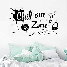wandsticker4u xl wandtattoo jugendzimmer spruch chill out