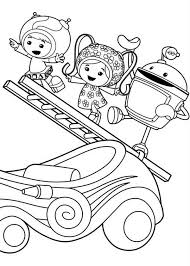 Milli And Geo With Bot Climb Ladder In Team Umizoomi Coloring Page