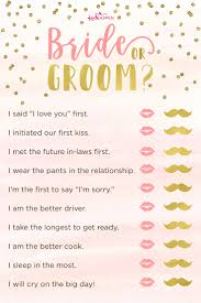 3 Bridal Shower Games Free Printables