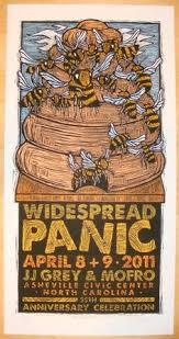 Widespread Panic Halloween 2015 by 2014 Widespread Panic Lewiston Concert Poster By Aj Masthay