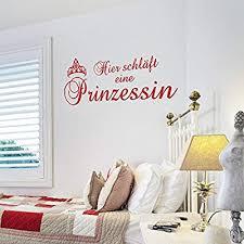 dekoration die prinzessin schläft hier mädchen schlafzimmer