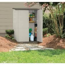 rubbermaid fg374601olvss large vertical storage shed ebay