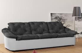canapé gris et blanc pas cher canapé fixe 3 places tissu gris blanc yolinda canapé fixe