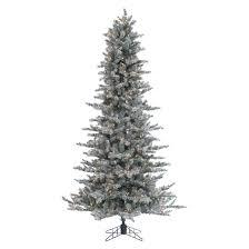 Pre Lit Pencil Cashmere Christmas Tree by 7 5 U0027 Fast Shape White Alaska Pine Tree With Lights Shop Hobby