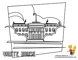 Coloring Sheet White House ColoringBuddy Mike Google
